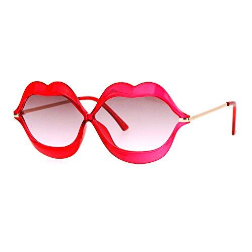 Cute Lip Shape Sunglasses Lips Kiss Womens Fashion Shades UV 400 - Shades Cute