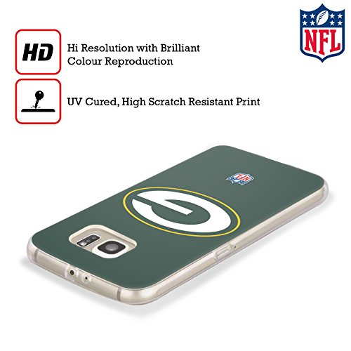 Official NFL Plain Green Bay Packers Logo Soft Gel Case for Samsung Galaxy S8+ / S8 Plus from Head Case Designs