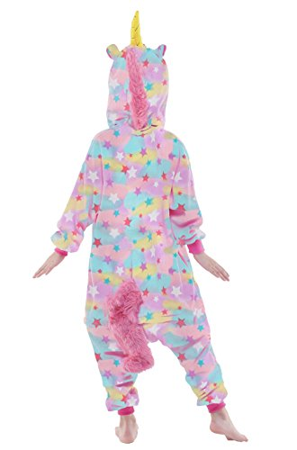 NEWCOSPLAY Unisex Children Unicorn Pyjamas Halloween Costume (5-Height 41-46'', Colorful) by NEWCOSPLAY (Image #5)