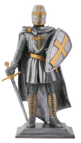 Templar Knight Medieval Collectible Statue Figurine-H: 9""