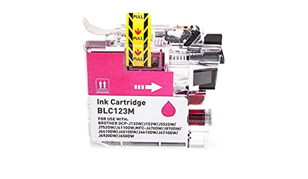 printyo® Cartucho d tinta LC-123 M Magenta Compatible para ...