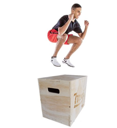 77tech 3 in 1 Wood Plyometric Box Exercise Equipment 30/24/20inch -  Crossfit Jump Wooden Puzzle Plyo Box for Jump Training, MMA, or Plyometric  Agility
