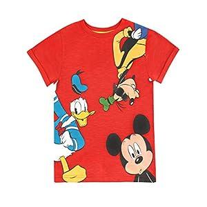 Disney Boys' Mickey Mouse Donald Duck & Goofy T-Shirt