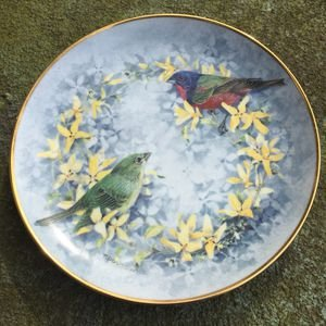 - Franklin Mint Heirloom Recommendation Songs of Spring Collectible Plate by Theresa Politowicz