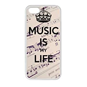 Special Music is My Life Music Notes Background Pattern iPhone 5 5S TPU(Laser Technology) Durable Back Case Shell - For iPhone 5 5S