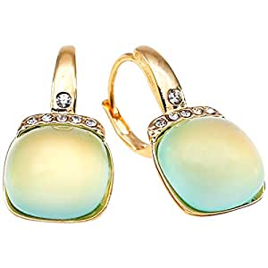 Elementesse Women's Gold Plated Stainless Steel Clips Earring