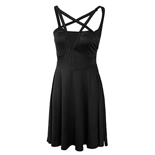 Regalo Noche Vestido negro Rodilla Hasta Figura Ropa Baoblaze Hermosa Fiesta Mujer Jovencita Elegante wfCqSax