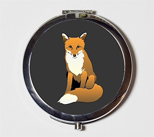 Fox Compact Mirror Spirit Animal Pop Art Woodland Creatures for Makeup Cosmetics by Fringe Pop