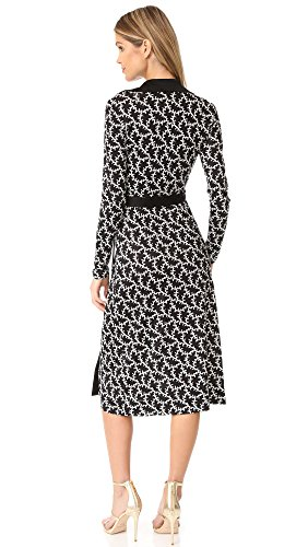 Black D Ring Women's Diane Wrap Printed von Dress Furstenberg Black Vermier qwfxTIvR