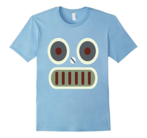 Mens Robot Face Halloween Simple Costume T-shirt 3XL Baby (Baby Robot Halloween Costume)