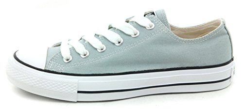 Difyou Womens Comfy Lace-up Casual Canvas Shoes For Couples Light Green Zp8ymeeCh0