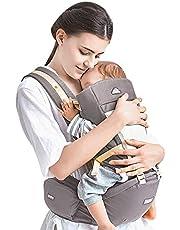 Babybärare höftsits 4 bär vägar ergonomisk handsfree andningsbar bärsele fram bak spädbarn ryggsäck wrap sele för spädbarn, småbarn, barn, nyfödda