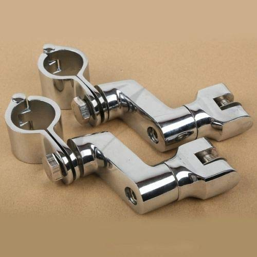 CQQS STORE - Foot Rests - 30mm Universal Front Bowleg Foot Pegs Rest Clamps for Harley Road Glide Triumph Daytona 675 New 1 PCs