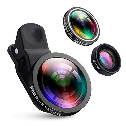 1d37672a267 Criacr (Upgraded Version) Phone Camera Lens, 0.4X Wide Angle Lens, 180