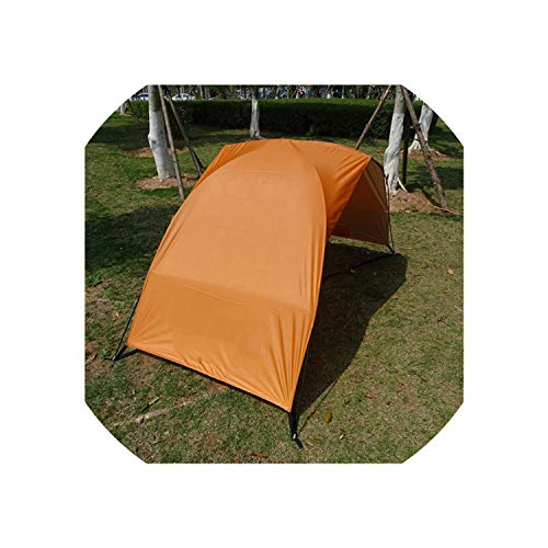 Beach Tents Portable Cabana Sun Shade Canopy Fishing Shelter Tents Awning Sunshade Strandtent Summer Uv Protection,Orange with Coating