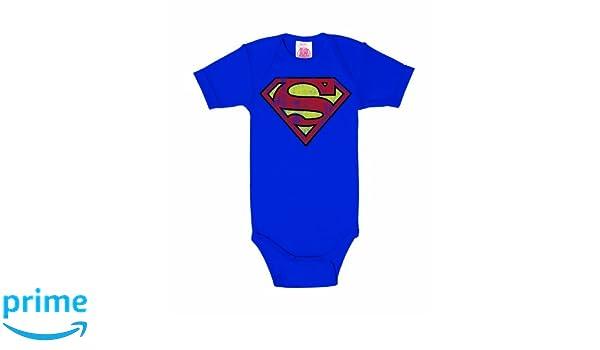 Logoshirt DC Comics - Superman Logo - Body para bebé - Pelele para bebé - Azul Real - Diseño Original con Licencia: Amazon.es: Ropa y accesorios