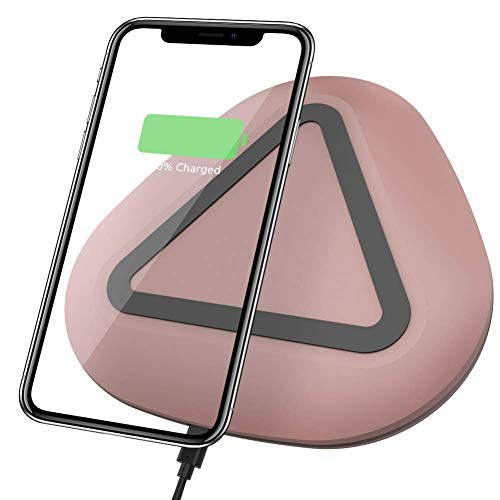 Wireless Charger Vidgoo Qi Certified Fast Charging Pad Wireless Charging Pad Compatible with iPhone Xs MAX/XR/XS/X/8/8 Plus Galaxy Note 9/S9/S9 Plus/Note 8/S8-Rosegold