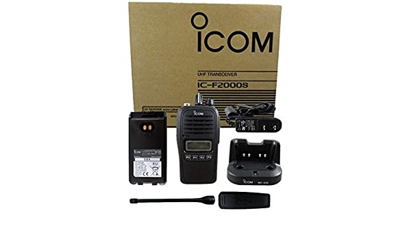NEW Icom F2000S 05 4W 128CH UHF 400-470MHZ Radio Police Fire HAM Submersible LCD