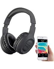 auvisio Kopfhörer FM: Over-Ear-Headset mit Bluetooth 5, MP3, FM, Akku, Auto Connect, 22 Std. (Kopfhörer Radios)