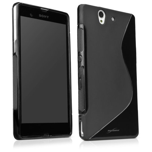 Sony Xperia Z Case, BoxWave [DuoSuit] Ultra Durable TPU Case w/ Shock Absorbing Corners for Sony Xperia Z - Jet Black (Best Case For Sony Xperia Z Ultra)