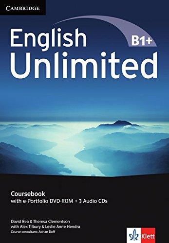 English Unlimited B1+: Intermediate. Coursebook with e-Portfolio DVD-ROM + 3 Audio-CDs