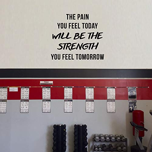 Vinyl Wall Art Decal - The Pain You Feel Today Will Be The Strength You Feel Tomorrow - 11