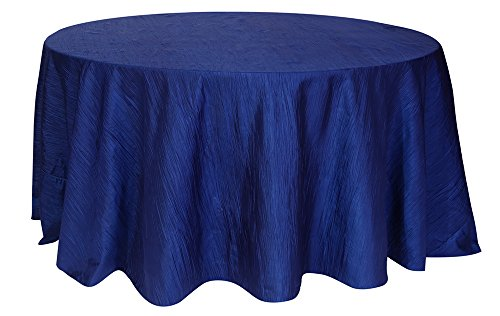Your Chair Covers Round Crinkle Taffeta Tablecloths, 120