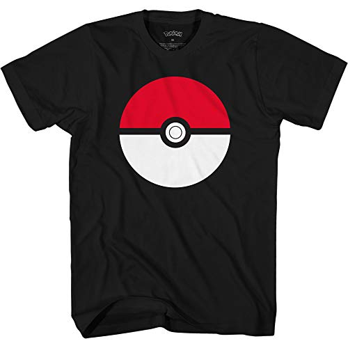 Pokemon Boys' Big Pokémon Pokeball T-Shirt, Black, Medium (Best Pokemon Drawing Ever)