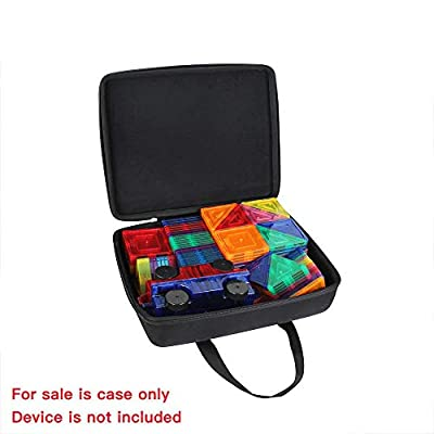Hermitshell Hard Travel Case Compatible with Picasso Tiles 100 Piece Set+ PicassoTiles 2 Piece Car Truck Set / Magna-Tiles 100 Piece Set+Magna-Tiles 2-Piece Car Expansion Set: Toys & Games