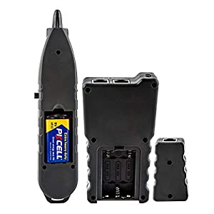 Advanced Cable Tester with PoE Multifunction Wire Tracker Network Cable Tester for te Toner Tool Kit with Bag Probe Audio Tone for LAN CAT5 CAT6 Tracker Underground Telephone Line Finder Home Repair