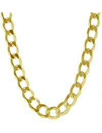 14K Solid Yellow Gold 8mm Thick Heavyweight Cuban Curb Link Chain Necklace/Bracelet