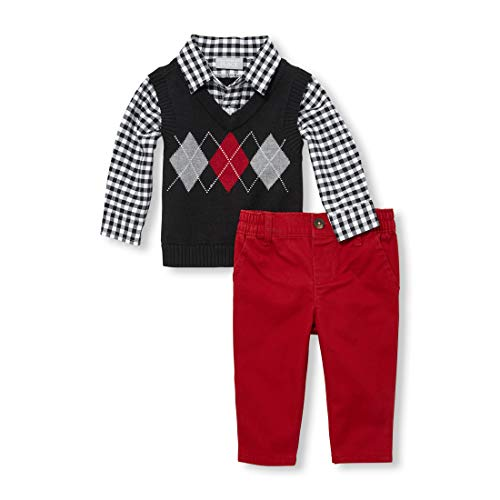 The Children's Place Baby Boys Sweater Set, Black 12-18MOS ()