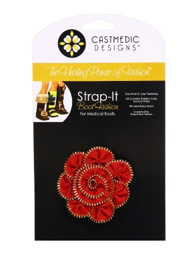 CastMedic Designs Strap-It Rosette with Silver Zipper, Red by CastMedic ()