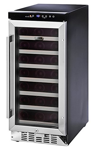 Whynter BWR-33SA 33 Bottle Built-In Wine Refrigerator, Stainless Steel