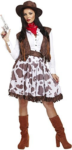 Ladies Adult Cowgirl Cowboys and Indians Fancy Dress costume Outfit with Hat U37390  sc 1 st  Amazon UK & Cowgirl Fancy Dress: Amazon.co.uk