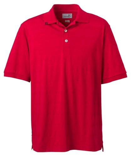 Ashworth Cotton Jersey (Ashworth 2013 Men's EZ-Tech Jersey Textured Stripe Polo-Short Sleeve Polo-X-Large-Carmine Red)