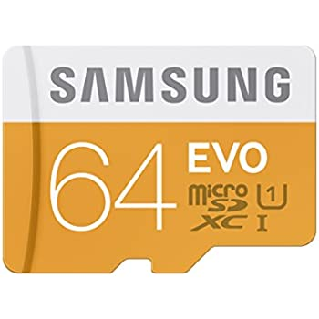 Samsung EVO 64GB  Micro SDXC Memory Card with Adapter up to 48/MB/s (MB-MP64DA/AM)