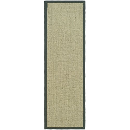 Safavieh Natural Fiber Collection NF441B Hand Woven Marble and Grey Sisal Runner (2'6
