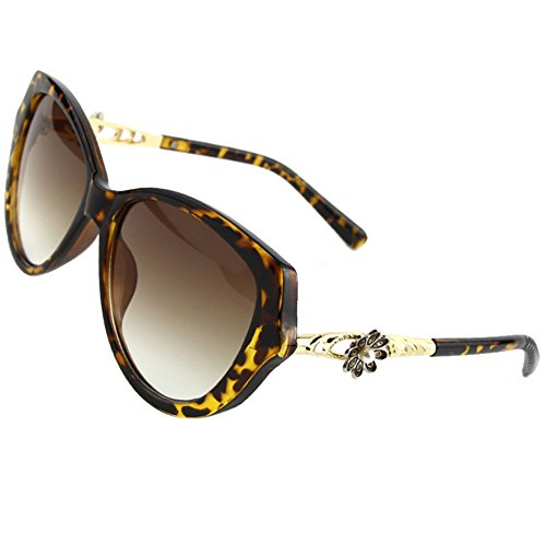 Sumery Women Elegant Flower Decorate Sun Glasses Fashion Brand Designer Sunglasses