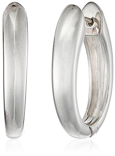 Zina Sterling Silver Contemporary Collection Long Drop Snap Hoop Earrings (Zina Sterling Silver Earrings)