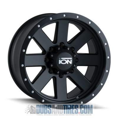 ION (134) BLACK Wheel with MATTE BEADLOCK (0 x 10. inches /5 x 150 mm, -19 mm offset) -  Ion Wheels, 134-2150MB