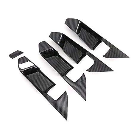 T/ür Dekor 1 HIGH FLYING f/ür RAV4 Bj 2019 2020 Interieur Dekor ABS Kunststoff Kohlefaserfarbe