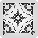 Mexican Tile Stencil - 6 x 6 inch (S) - Reusable Talavera Moroccan Turkish Italian Tile Stencils for Painting - Use on Walls, Floors, Fabrics, Glass, Wood, and More…