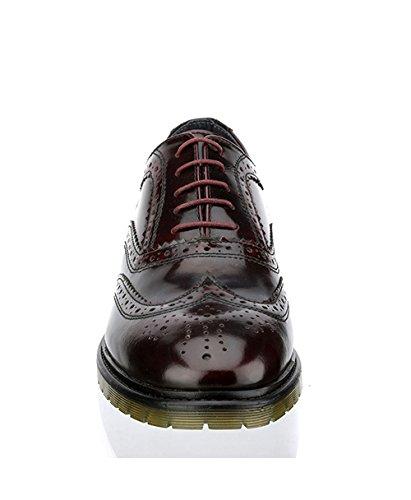 Red Tape - Zapatos de cordones de Piel para hombre morado rojo burdeos