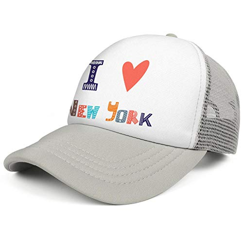 I Love New York Cute Postcard Greeting Card Grey Unisex I Love New York Cute Postcard Greeting Card Mens Journeyfunny Caps Hat