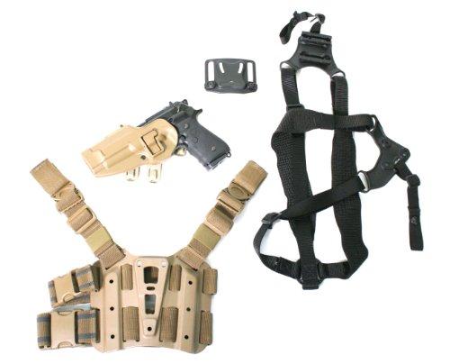BLACKHAWK! S.T.R.I.K.E. SERPA Combo Kit (Beretta Only)/Medium Torso, Left Hand, Coyote Tan Blackhawk Serpa Shoulder Harness