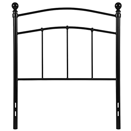 (Flash Furniture Woodstock Decorative Black Metal Twin Size Headboard)