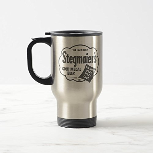 Zazzle Kitsch Vintage Stegmaier's Beer Logo Travel Mug Stainless Steel Travel/Commuter Mug, 15 ()