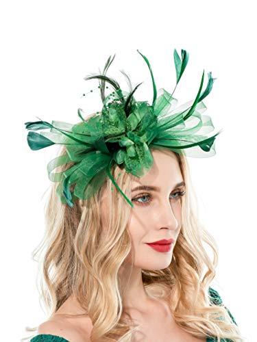 Fascinators Hat for Women Tea Party Hats Wedding Headband Womens Dress Hat