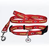 Hunter Kansas City Chiefs Pet Collar, Lead and ID Tag Combo Set, X-Small